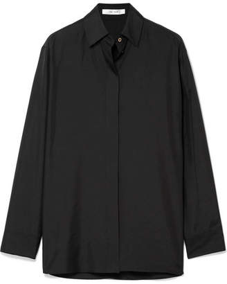 The Row Big Sisea Oversized Silk-organza Shirt - Black