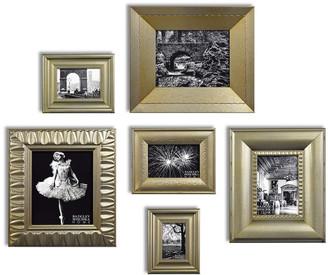 Badgley Mischka Home Amber 6Pc Champagne Leaf Gallery Frame Set