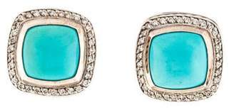 David Yurman Turquoise & Diamond Albion Earrings