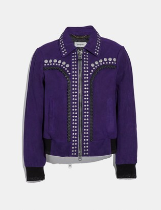 Coach Studded Bandana Jacket