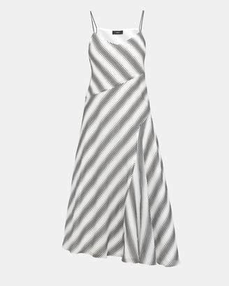 Theory Cotton Striped Spaghetti Day Dress