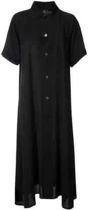Y's open collar shirt dress