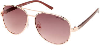 Tommy Hilfiger Rose Gold-Tone Aviator Sunglasses