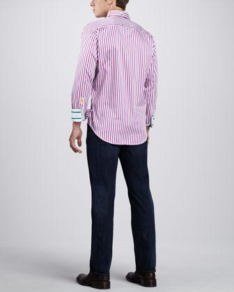 Robert Graham X-Collection Lanai Sport Shirt, Pink