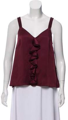 Rachel Zoe Sleeveless Ruffle Top