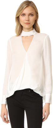Derek Lam 10 Crosby Long Sleeve Blouse with Collar Detail $395 thestylecure.com