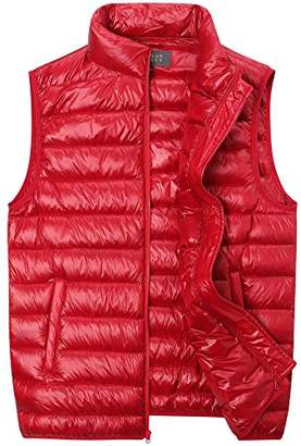 The Plus Project Men's Plus Size Quilted Down Vest with Stand Collar 4X-Large