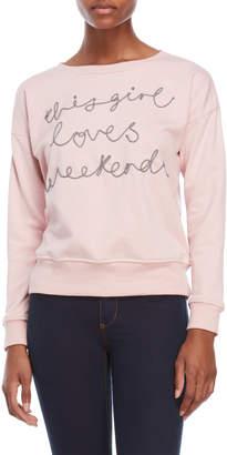 Romeo & Juliet Couture Romeo + Juliet Couture Loves Weekend Sweatshirt