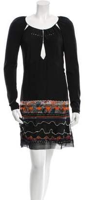 Chloé Embellished Long Sleeve Dress