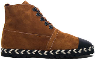 J.W.Anderson Suede Hi-Top Espadrille Boots