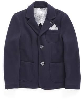 Armani Junior Knit Blazer with Pocket Square