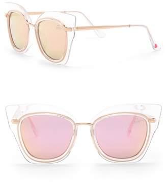Betsey Johnson Outlined Cat Eye Sunglasses