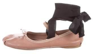 Miu Miu Round-Toe Ballet Flats