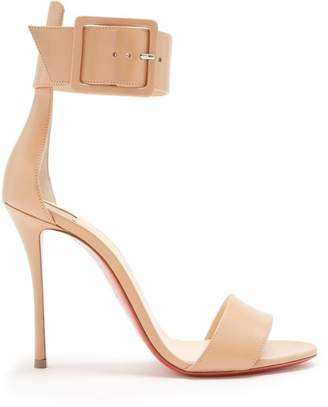 Christian Louboutin Blade Runana 100 Leather Sandals - Womens - Nude