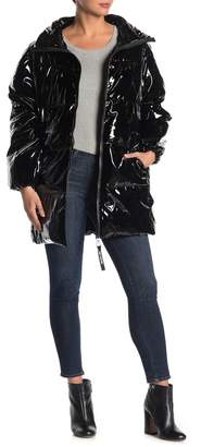 Juicy Couture Glossy Oversize Puffer Jacket