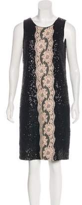 Dolce & Gabbana Lace-Trimmed Sequined Dress