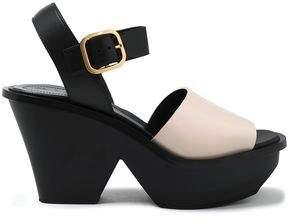 Marni Two-Tone Leather Platform Sandals