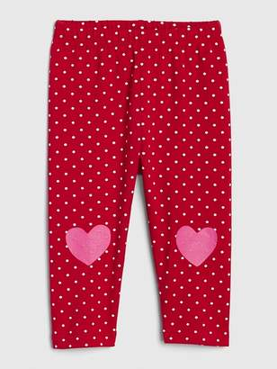 Gap Heart Dot Leggings in Stretch Jersey