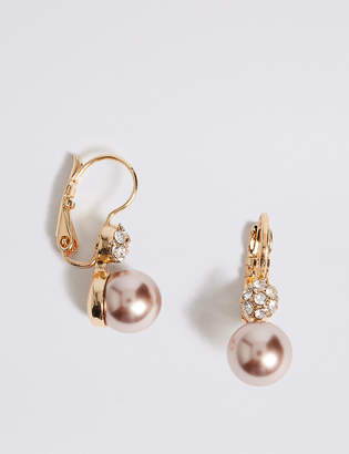 M&S Collection Pearl Effect Drop Earrings