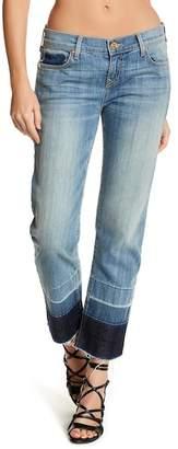 True Religion Straight Leg Released Hem Jeans