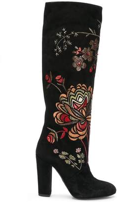 Giambattista Valli floral embroidered boots