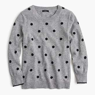 J.Crew Polka dot sweater in everyday cashmere