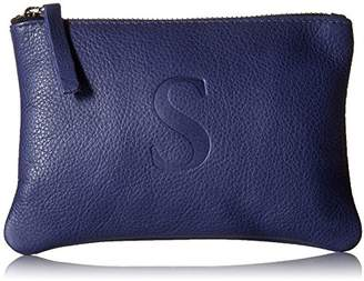 Soleil Designs Women's Zip Pouch with Letter S