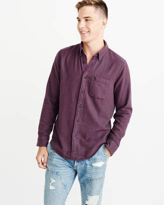Abercrombie & Fitch Solid Flannel Icon Shirt