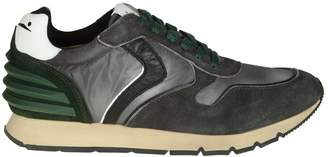Voile Blanche liam Sneakers In Suede And Nylon Gray Color