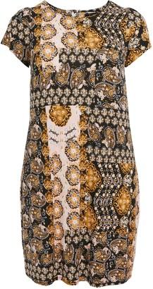 Evans Ochre Printed Jersey Swing Dress