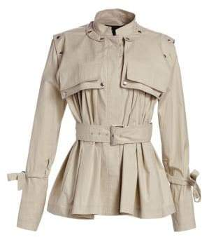 Proenza Schouler Belted Cropped Trench Jacket