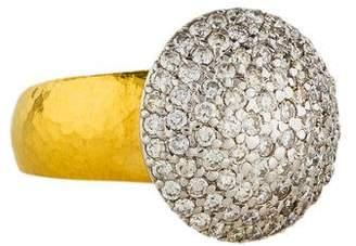 Gurhan Lentil Pavé Diamond Ring