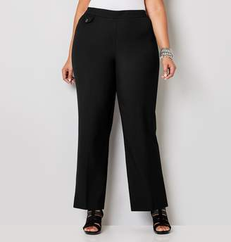 Avenue Plus Size Luxe Cool Hand Curvy Pull-On Pant