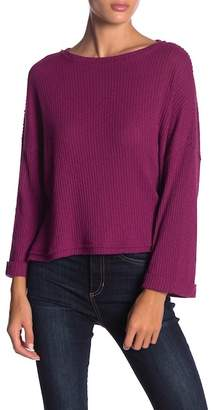Abound Cuffed Sleeve Ribbed Top