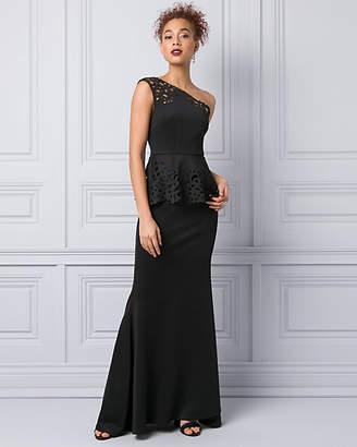 Le Château Laser Cut Scuba Knit Gown