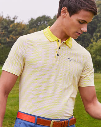 Ted Baker SANDPIT Mini geo print golf polo shirt