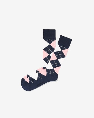 Express Cushioned Argyle Dress Socks