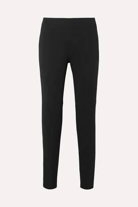 Antonio Berardi Stretch-crepe Slim-leg Pants - Black