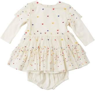 Stella McCartney Tulle & Jersey Dress W/ Diaper Cover