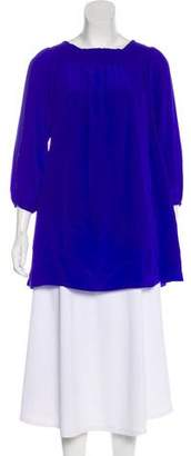 Nicole Miller Silk Long Sleeve Tunic