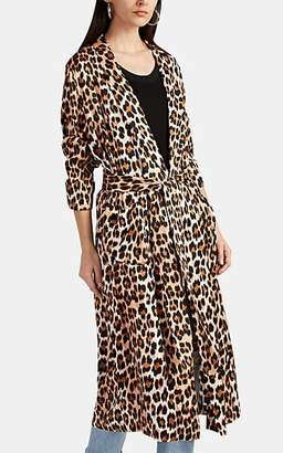 Icons Women's The Draper Leopard-Print Satin Robe Jacket