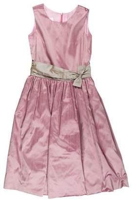 Joan Calabrese Girls' Taffeta Flare Dress