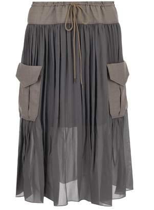 Chloé Pleated Pocket Detail Skirt