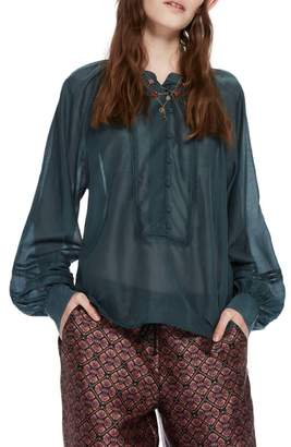 Scotch & Soda Puff Sleeve Blouse