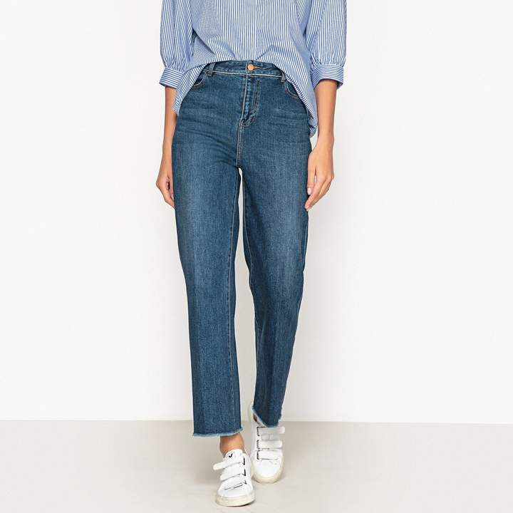 LABDIP Sully Piping Wide Leg High Waist Jeans, Length 32