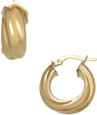 Saks Fifth Avenue 14K Italian Gold Twisted Hoop Earrings