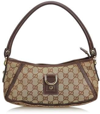 ... Shoulder Bag Clutch 145750. e99d8f5efd4 Gucci Vintage Gg Jacquard  D-Ring Abbey Pochette ... 87c8046803c21
