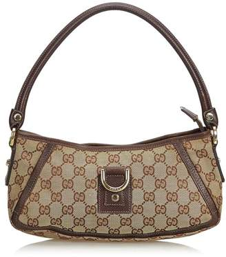 e99d8f5efd4 Gucci Vintage Gg Jacquard D-Ring Abbey Pochette