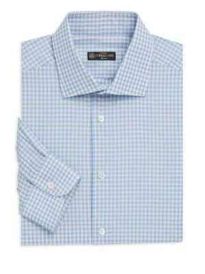 Corneliani Contemporary-Fit Gingham Dress Shirt