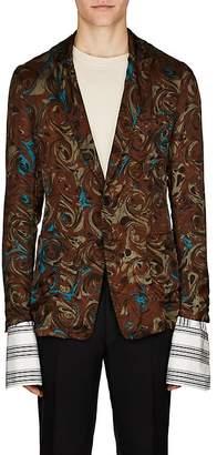 Dries Van Noten Men's Swirl-Print Twill Two-Button Sportcoat